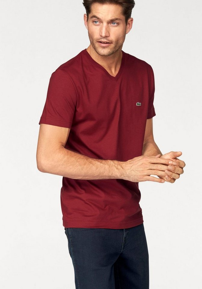 Lacoste T-Shirt in rostrot
