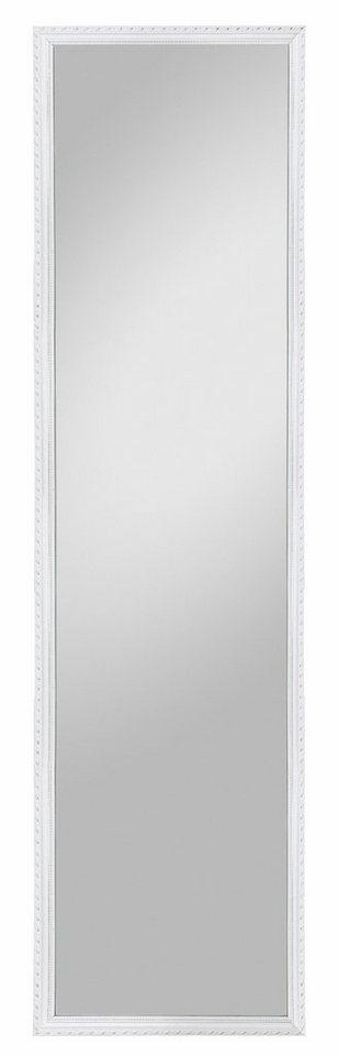 Home affaire Gerahmter Spiegel »Lisa«, 35/125 cm in weiß