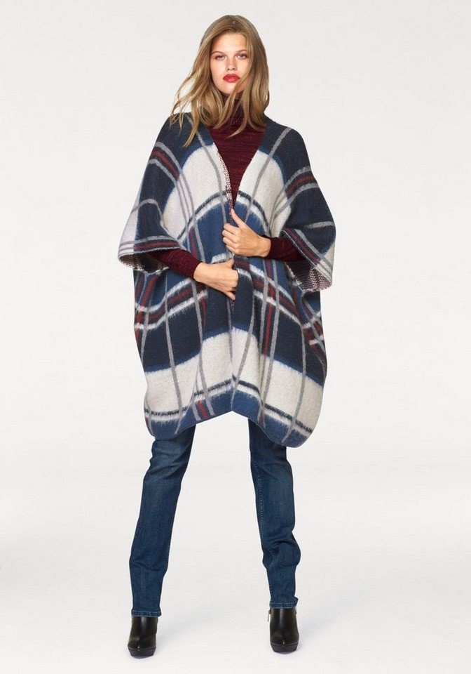 Pepe Jeans Modeschal im Karo-Design in blau-kariert