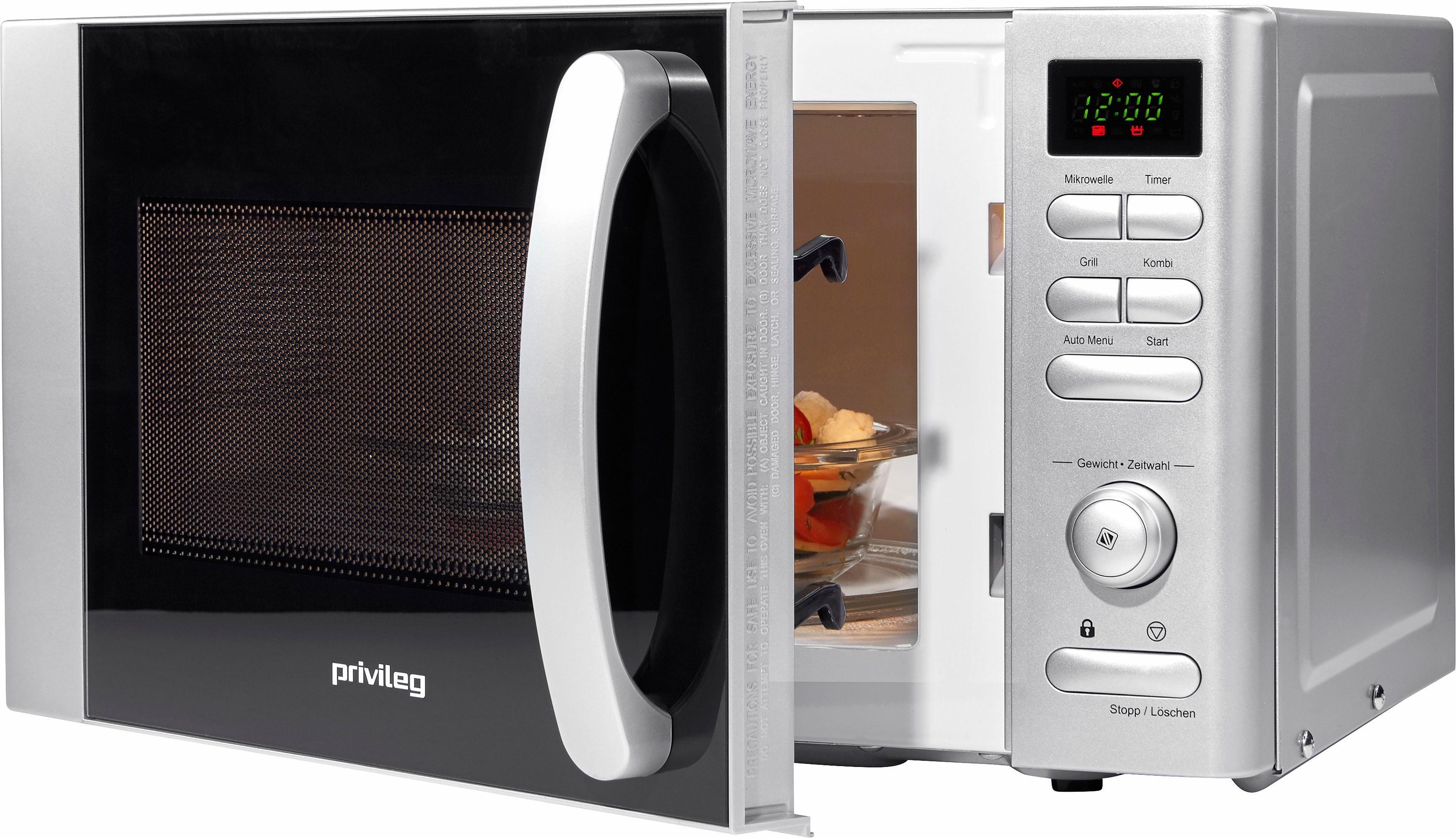 *Privileg Mikrowelle, mit Grill, 700 W, 17 Liter Garraum, mit 9 Automatikprogrammen*