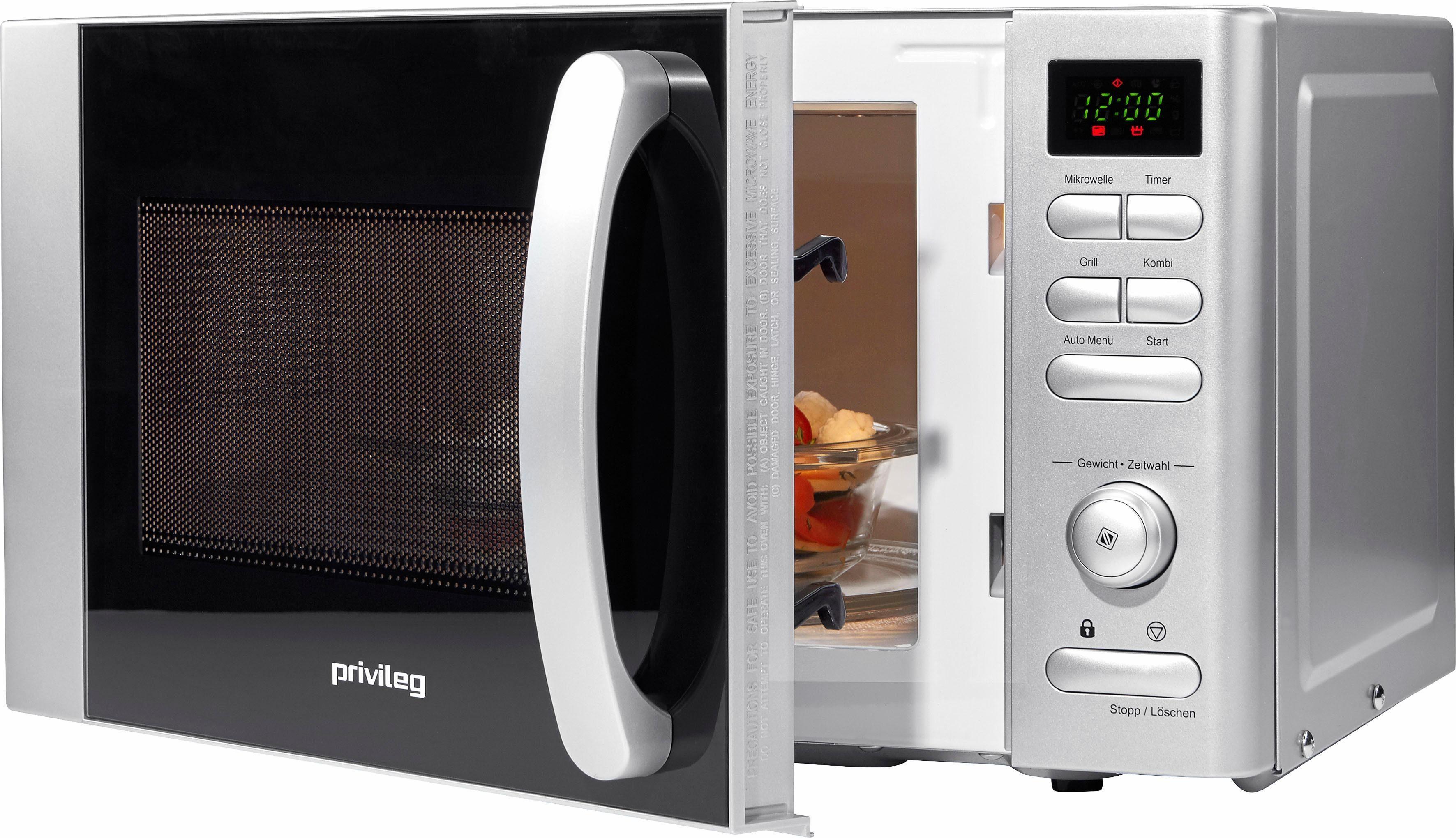 Privileg Mikrowelle, mit Grill, 17 Liter Garraum, mit 9 Automatikprogrammen, 700 Watt