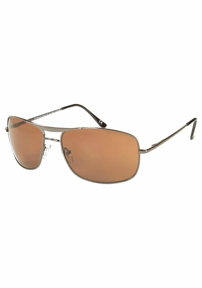 ROUTE 66 Feel the Freedom Eyewear Sonnenbrille mit doppeltem Nasensteg in braun