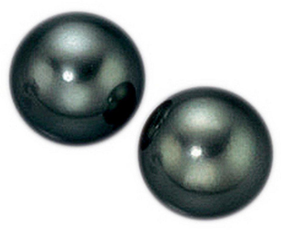 Adriana Paar Ohrstecker »La mia perla, A565-090-14WG/Ba« in Weißgold 585-grau