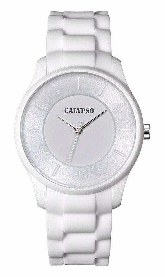 CALYPSO WATCHES Quarzuhr »K5671/1« in weiß