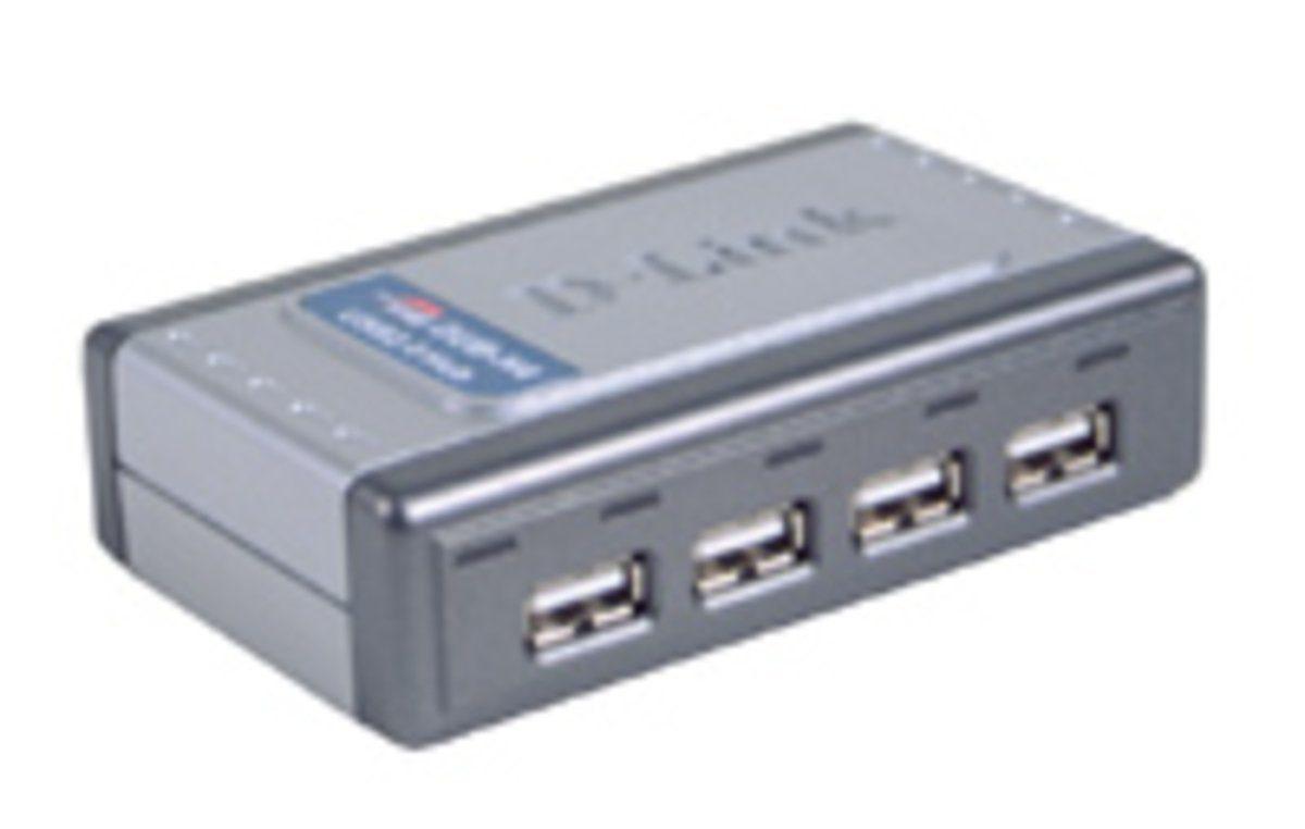 D-Link USB-Hub »DUB-H4 USB 2.0 4-Port Hub, 4 x A-Port, 1 x B-Port«