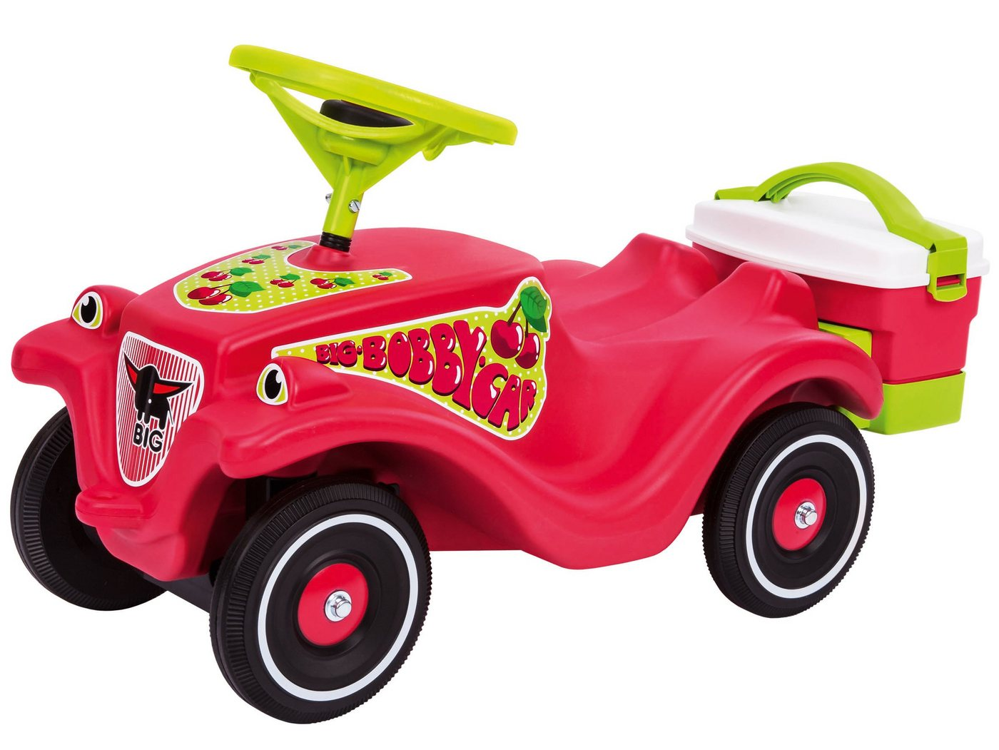 BIG Rutscherauto mit Picknickkoffer, »BIG Bobby Car Classic Cherry Girl«