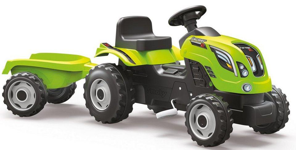 Smoby Trettraktor mit Anhänger, »Farmer XL, grün« in grün