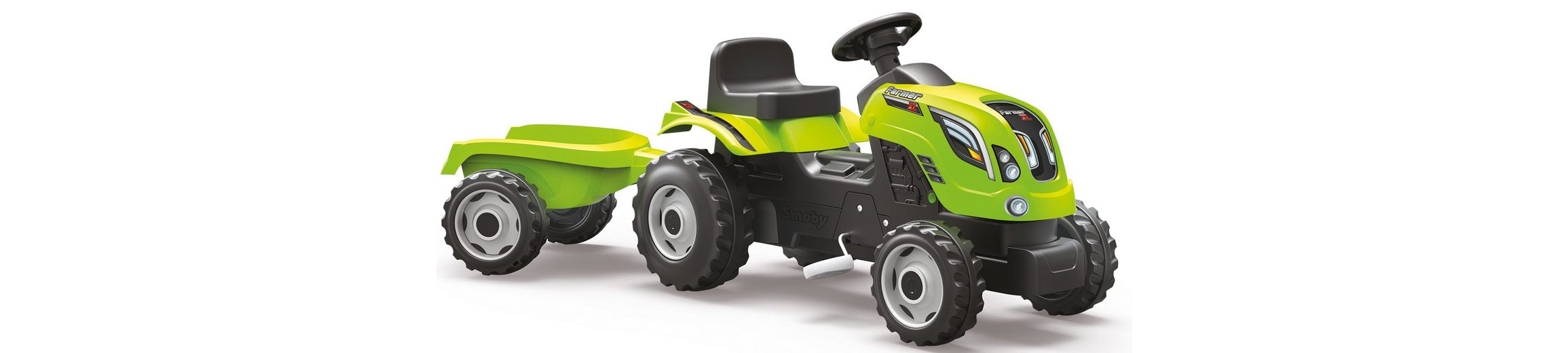 Smoby Trettraktor mit Anhänger, »Farmer XL, grün«