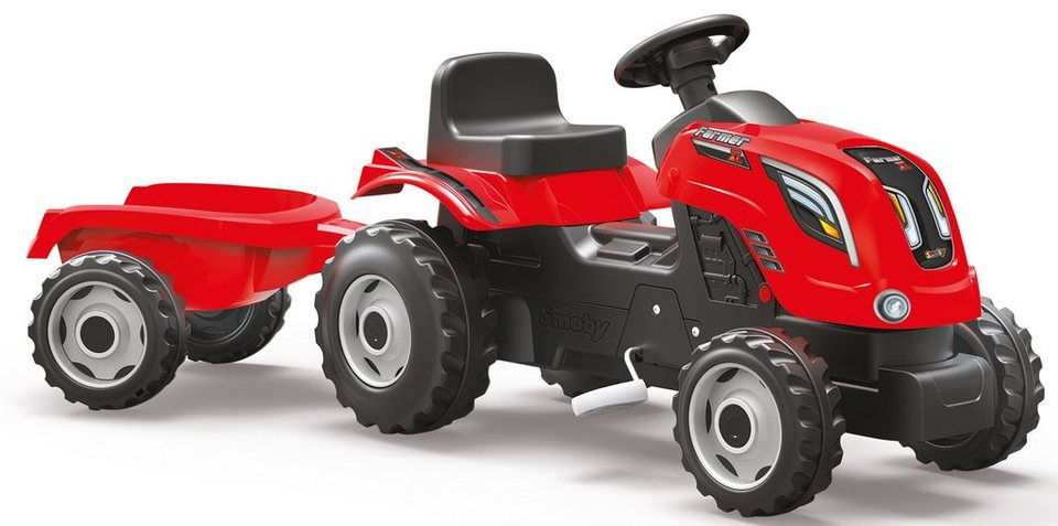 Smoby Trettraktor mit Anhänger, »Farmer XL, rot« in rot