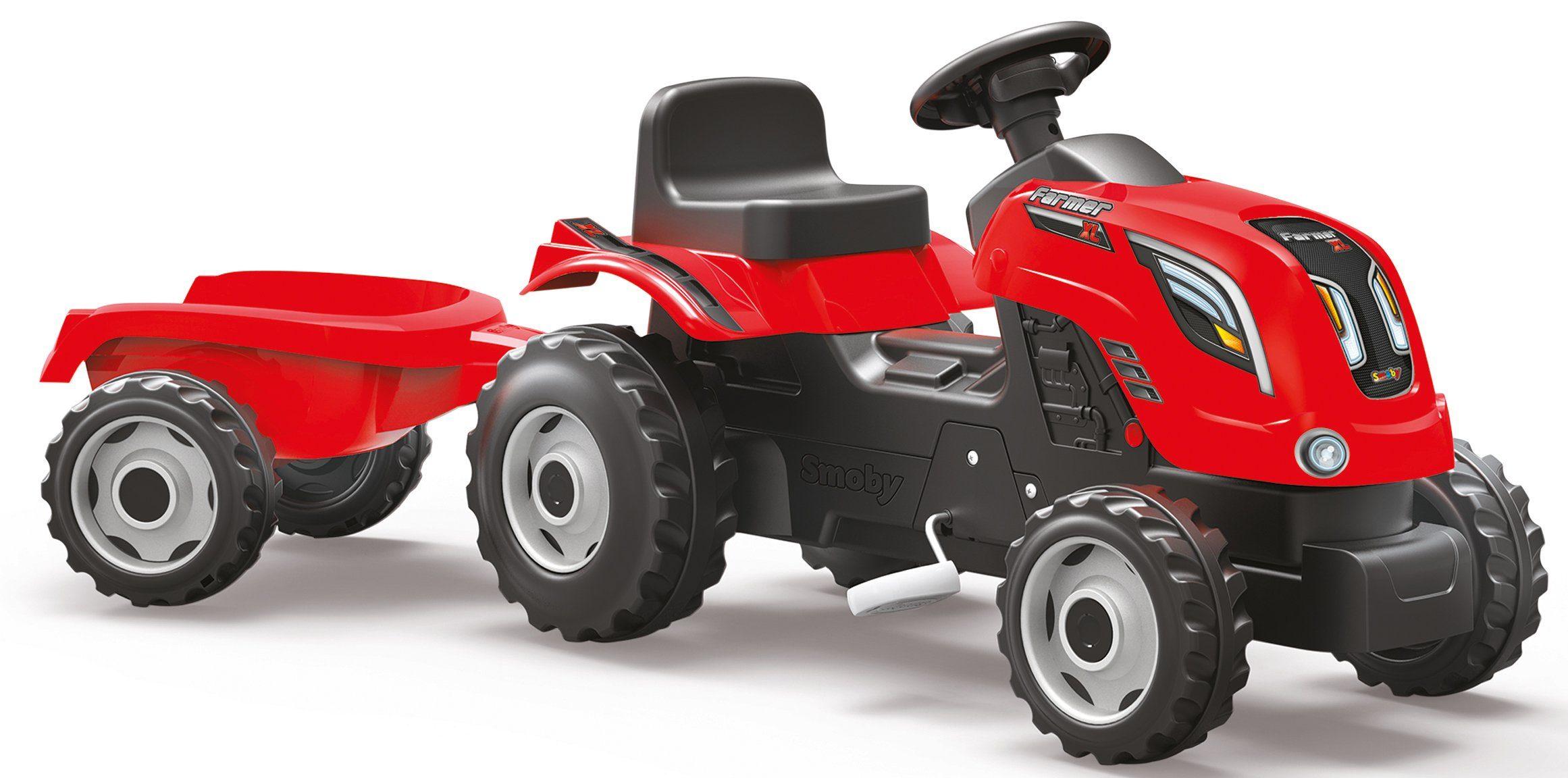 Smoby Trettraktor mit Anhänger, »Farmer XL, rot«