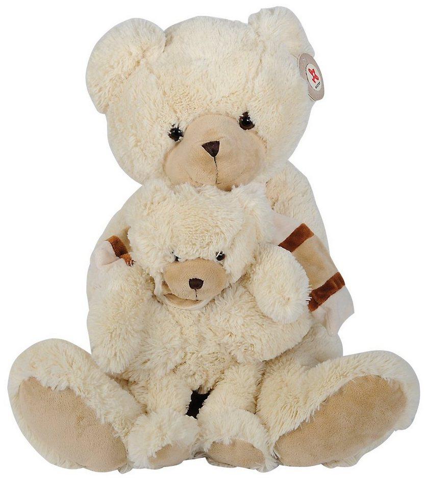 Nicotoy Plüschtier, »Bär mit Baby ca. 53 cm« in beige