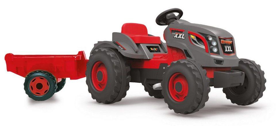 Smoby Trettraktor mit Anhänger, »Stronger XXL« in rot