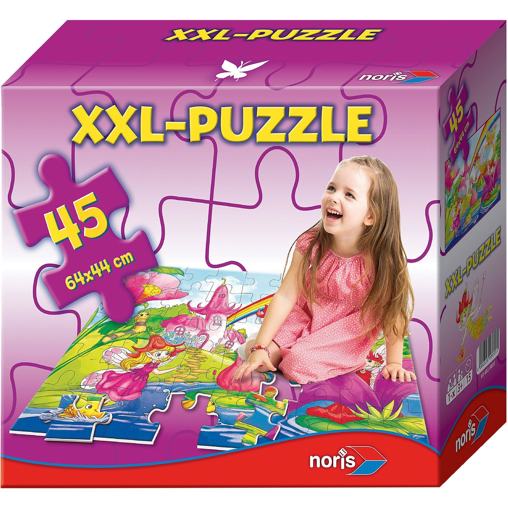 Noris Bodenpuzzle Feenwelt 45 Teile