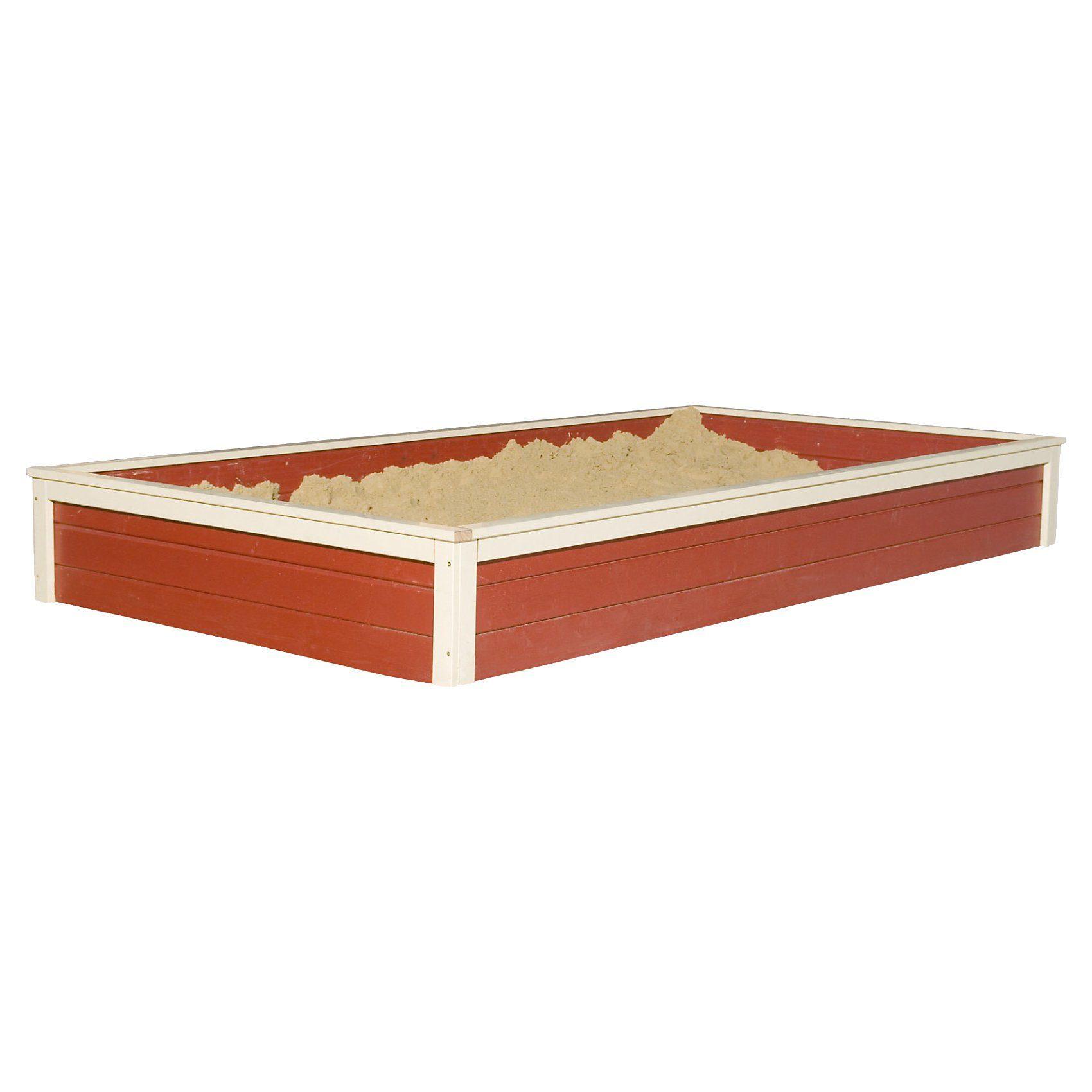 Karibu Sandkasten für Gernegroß, kastanienrot