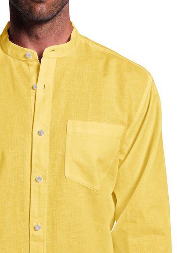 Eddie Bauer Stehkragenhemd mit Leinen