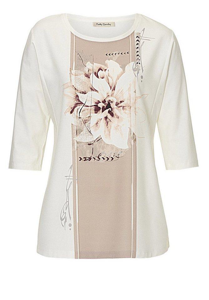 Betty Barclay Shirt in Weiß/Camel - Weiß
