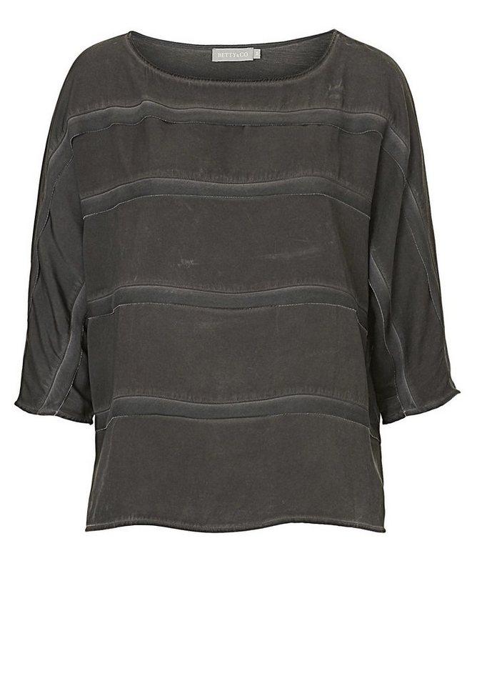 Betty&Co Shirt in anthra - Schwarz