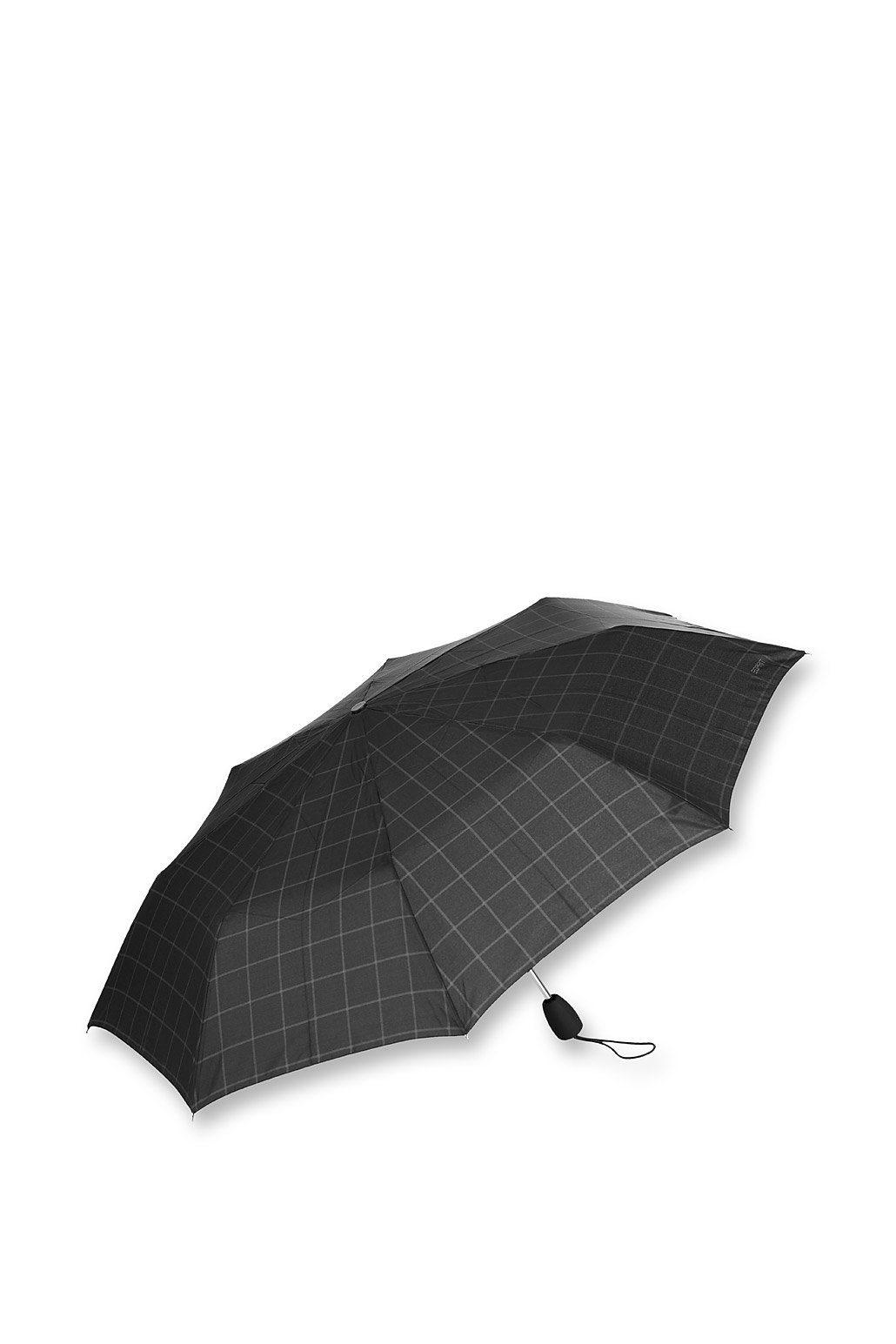 ESPRIT CASUAL Leichter Regenschirm mit Karomuster