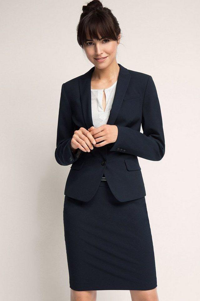 ESPRIT COLLECTION Modischer Business-Blazer in DARK BLUE
