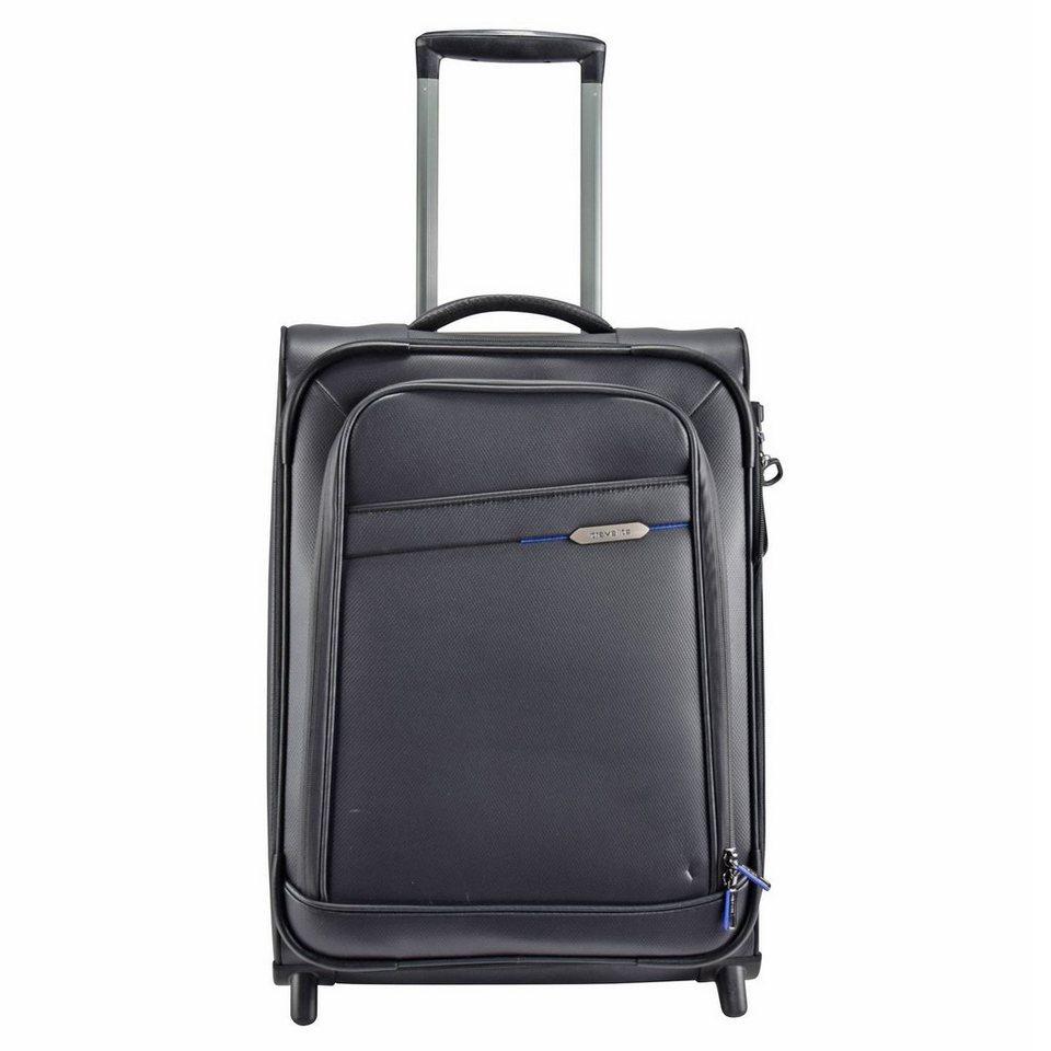 Travelite Scuba 2-Rollen Kabinentrolley 55 cm in schwarz