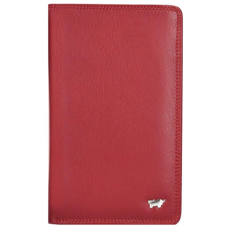 Braun Büffel Golf Geldbörse Leder 10,5 cm Handyfach in rot