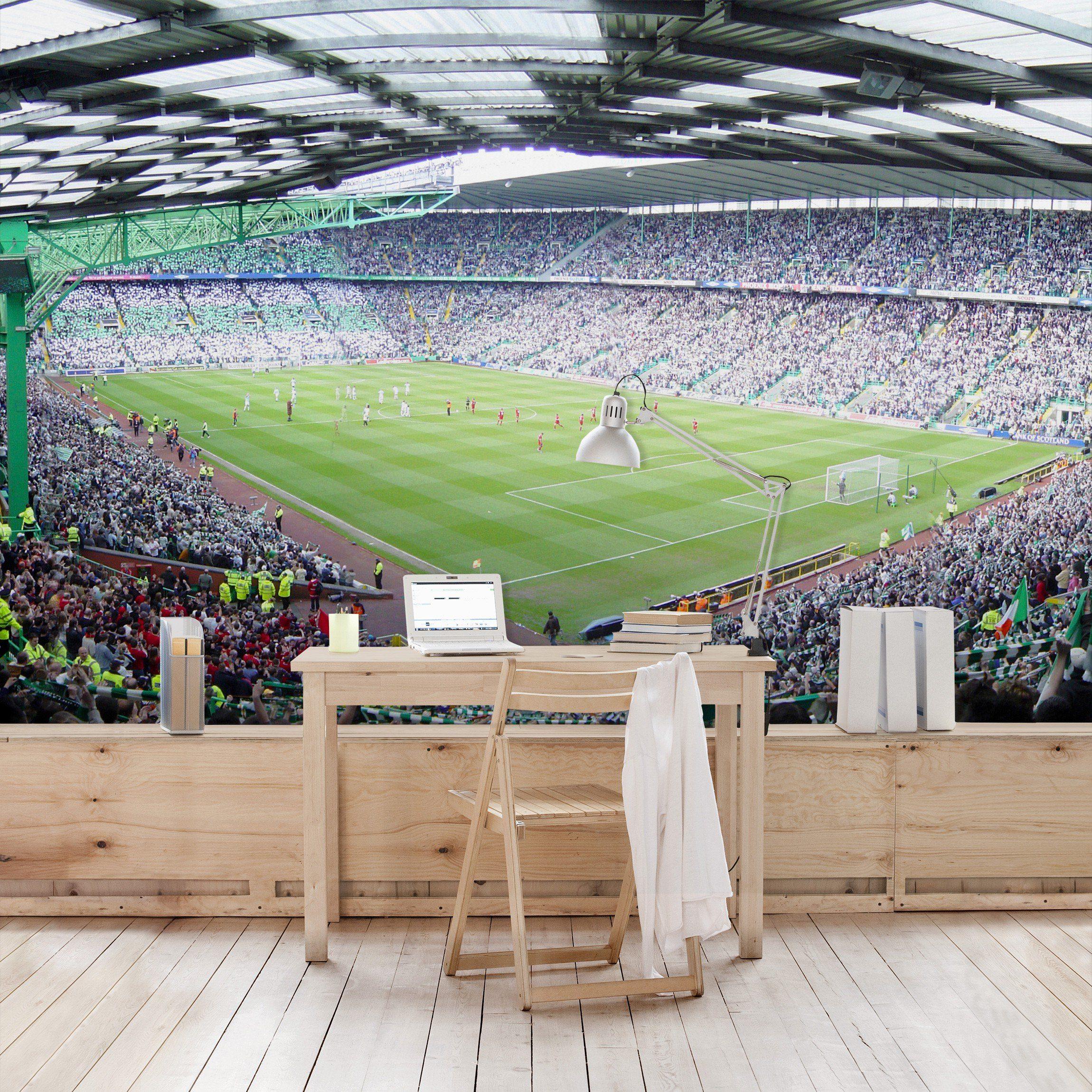 Bilderwelten Kinderzimmer Vliestapete Premium Breit »Fußballstadion«