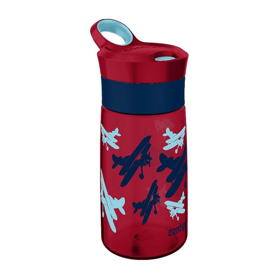 contigo Trinkflasche Gracie red Airplanes, 420 ml in rot