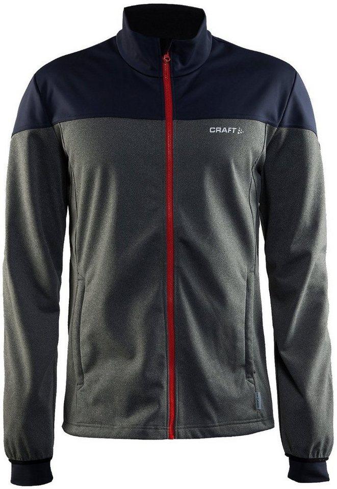 Craft Trainingsjacke »Voyage Jacket Men« in grau