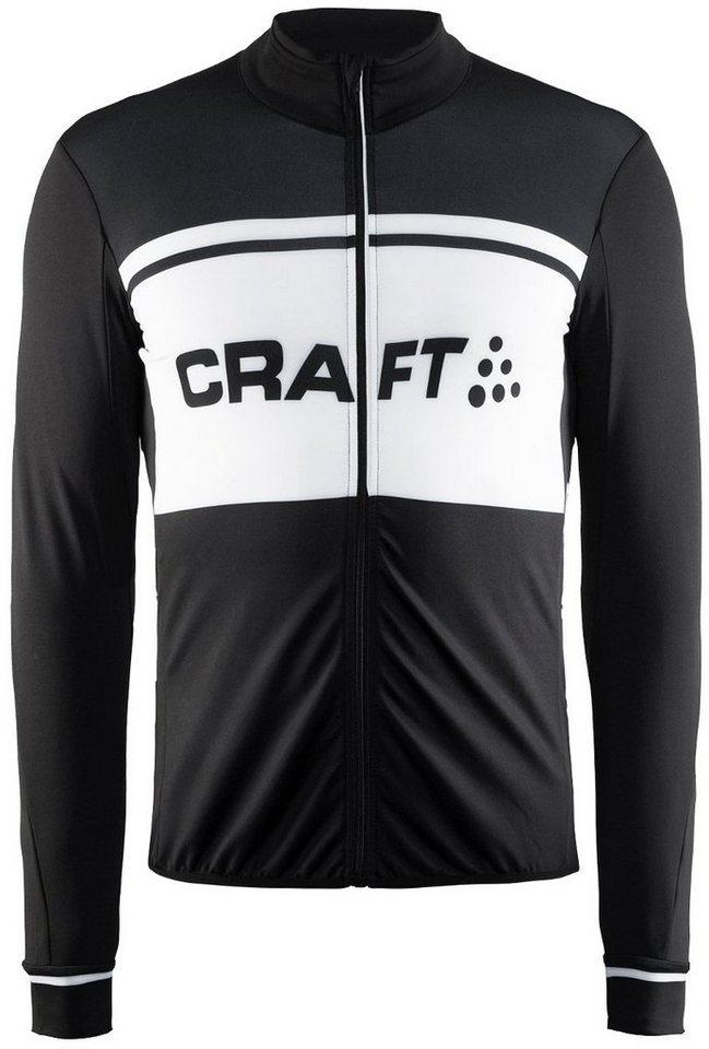 Craft Radtrikot »Classic Thermal Jersey Men« in schwarz