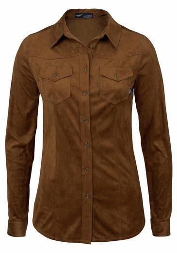 Arizona Shirt Blouse, Leather Faux-blouse