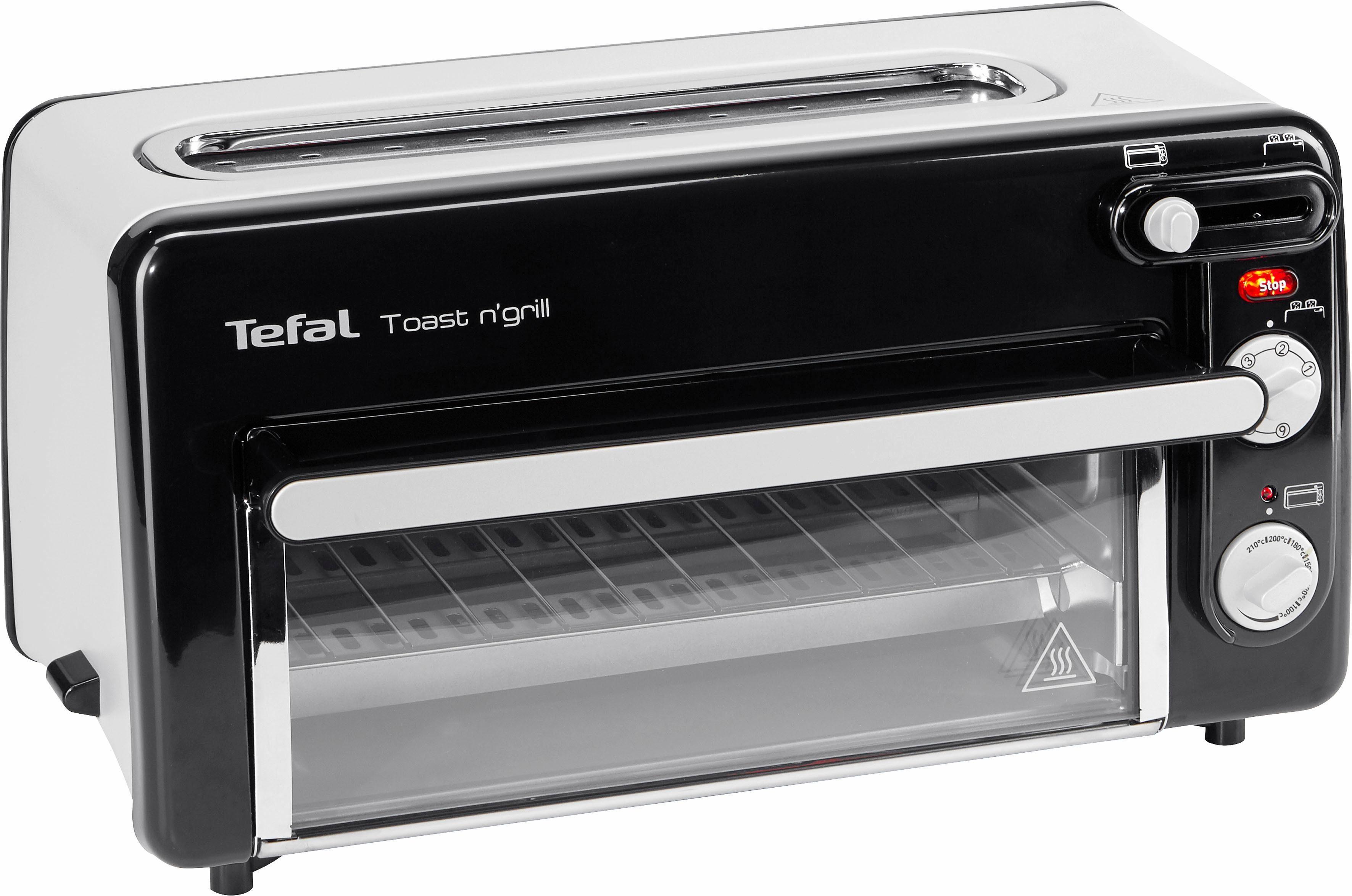 Tefal TL6008 Toaster Toast n' Grill und Mini-Ofen, 1300 Watt, kein Vorheizen notwendig