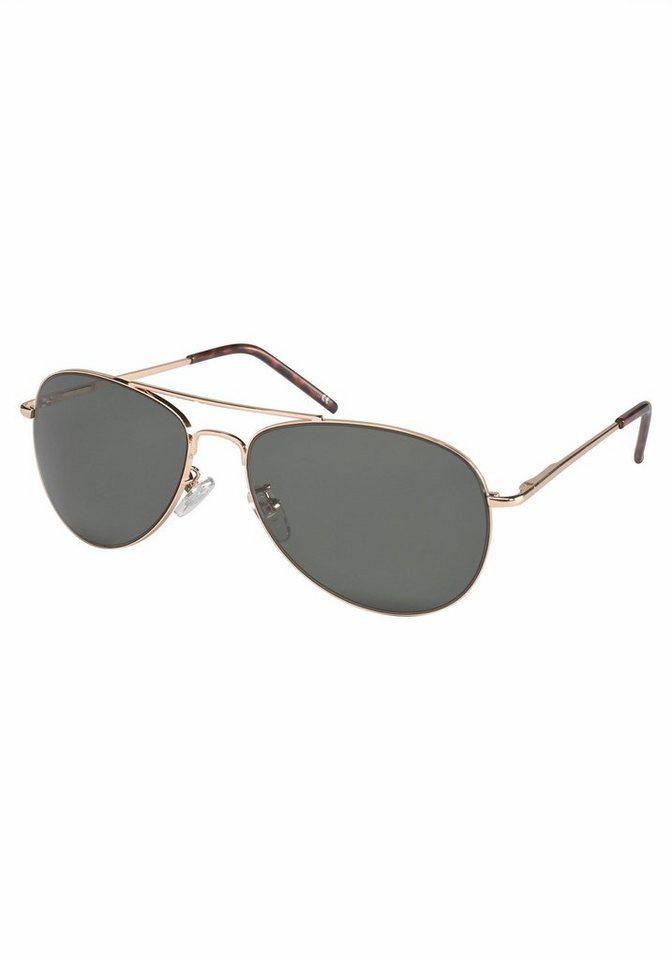 PRIMETTA Eyewear Sonnenbrille im klassischen Design in goldfarben-grau