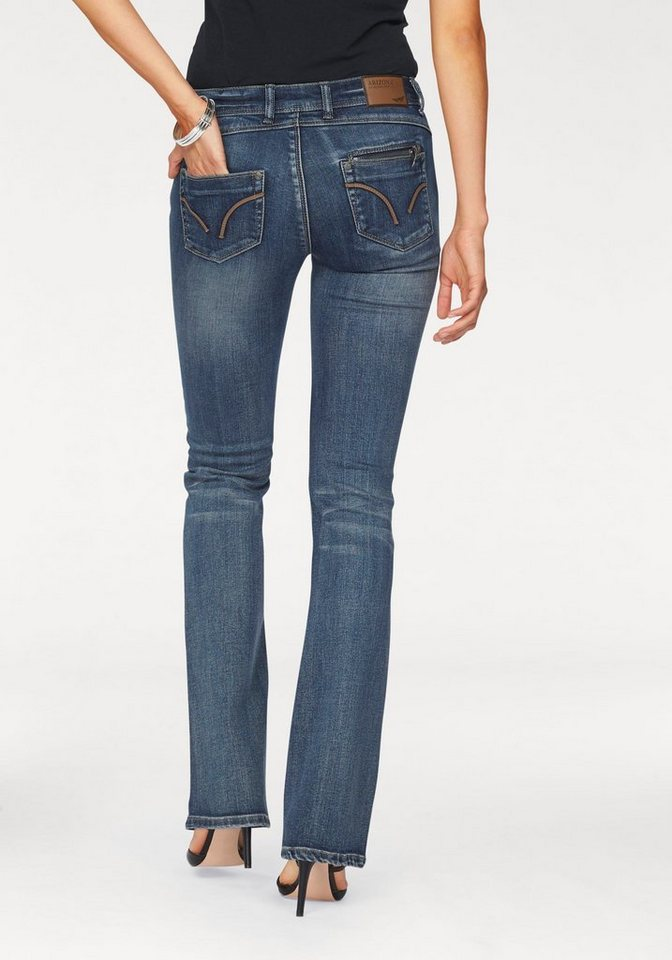 Arizona Bootcut-Jeans »Push-Up« in mid-blue-used