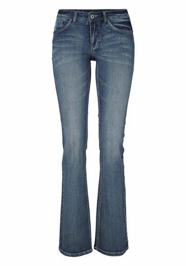 Arizona Bootcut-Jeans Shaping, Low Waist