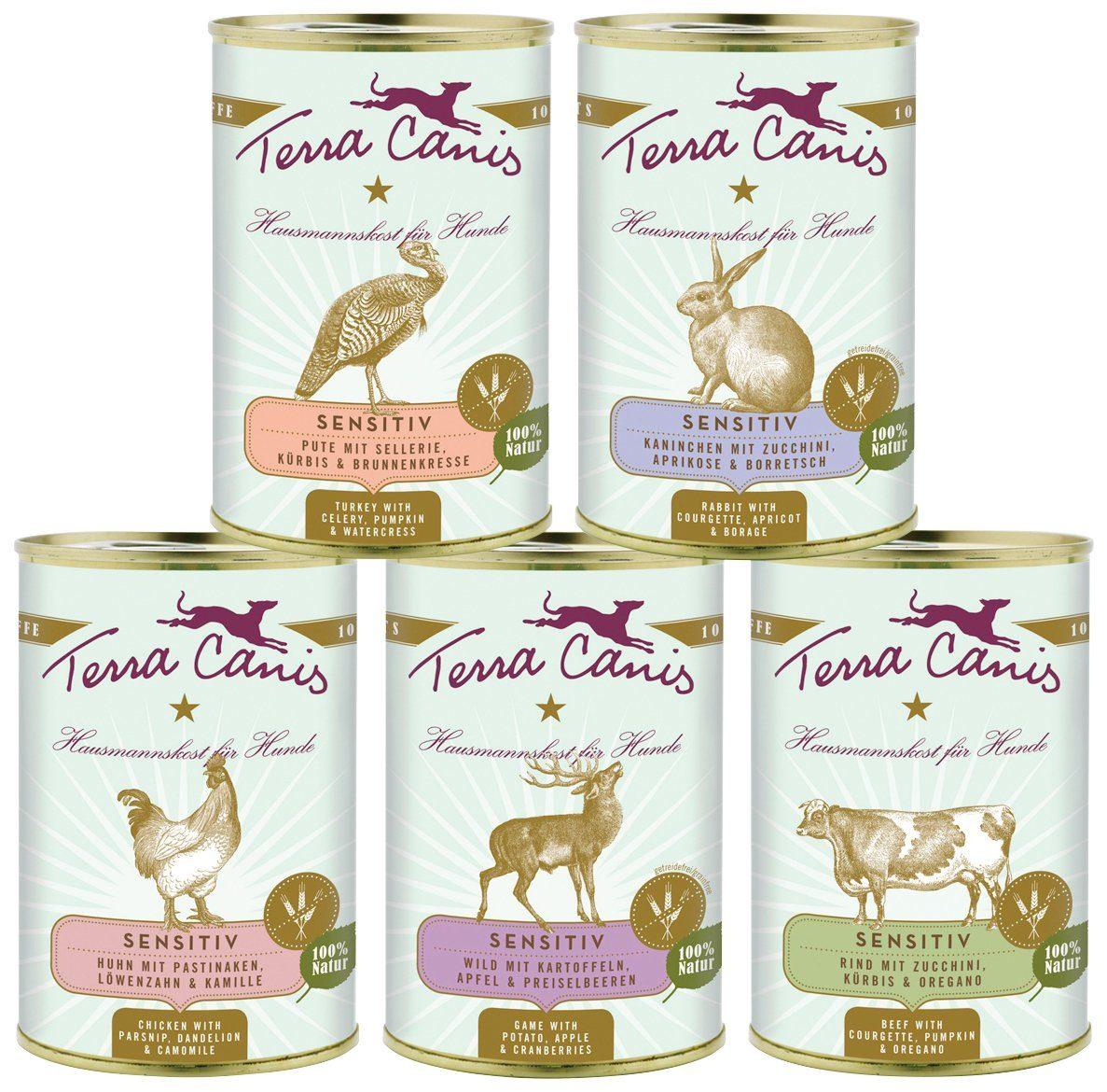 Set: Hundenassfutter »Sensitiv getreidefrei«, 5 Dosen á 400 g