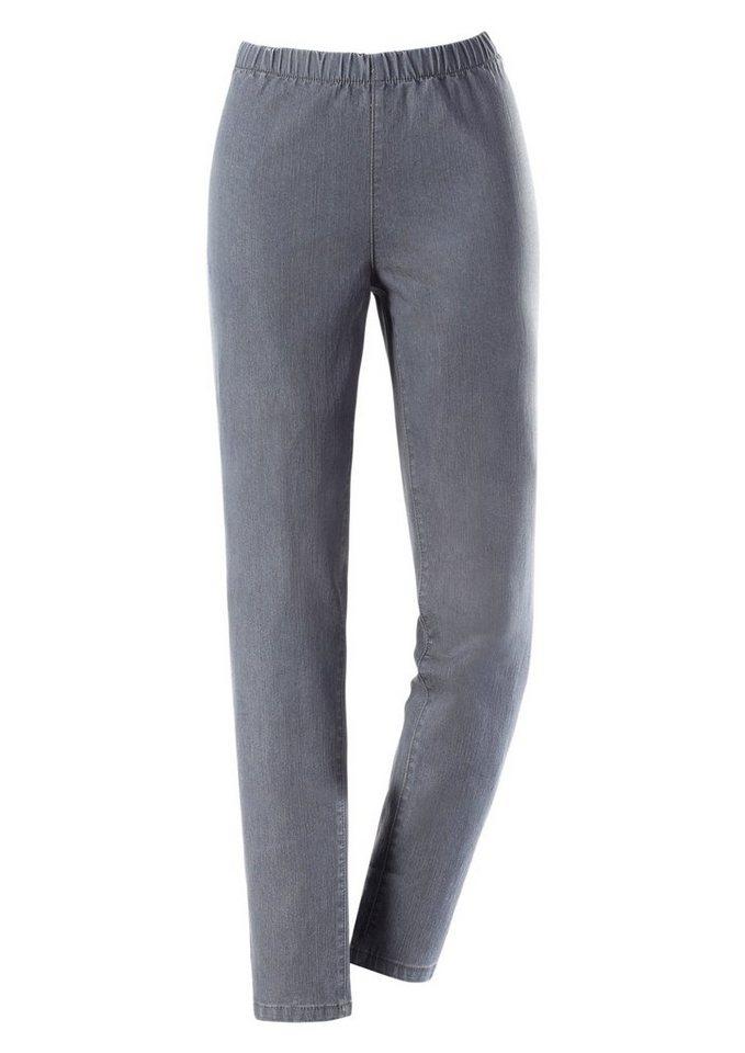 Ambria Jeans mit Rundum-Dehnbund in grau