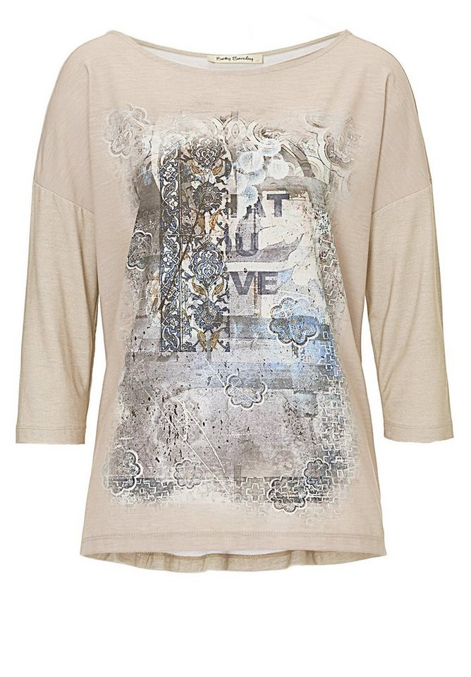 Betty Barclay Shirt in Camel/Blue - Bunt