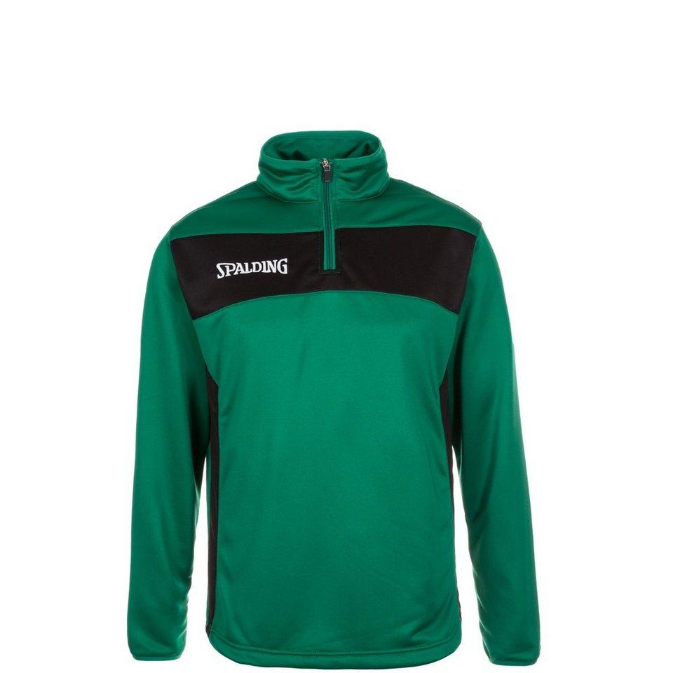 SPALDING Evolution II 1/4 Zip Sweatshirt Kinder in grün / schwarz