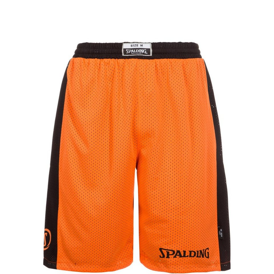 SPALDING Essential Reversible Basketballshort Kinder in orange / schwarz