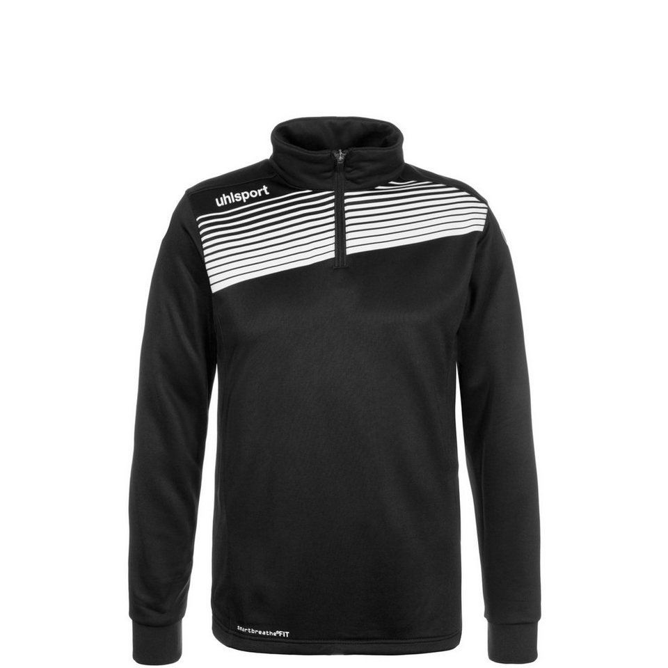 UHLSPORT Liga 2.0 1/4 Zip Trainingssweat Kinder in schwarz / weiß