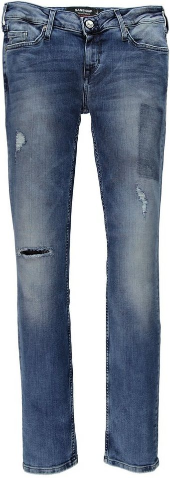 Sansibar Denim Stretchjeans in authentic used