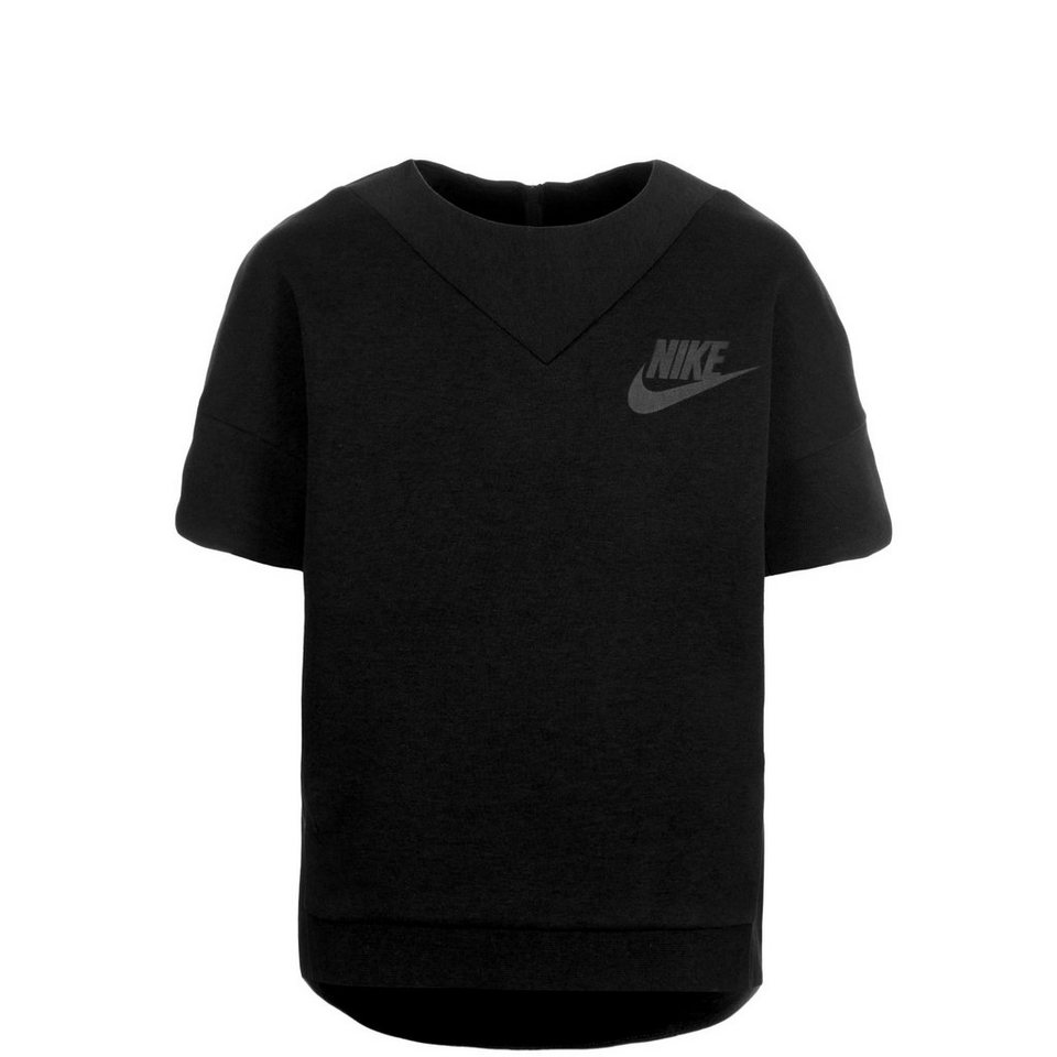 NIKE Tech Fleece Crew Trainingssweat Kinder in schwarz