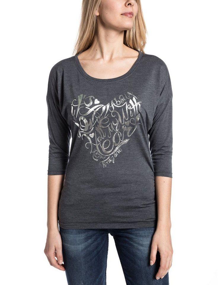 TIMEZONE Shirts (mit Arm) »FlorenceTZ« in dark grey melange