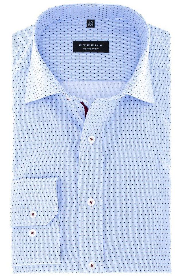 ETERNA Langarm Hemd »COMFORT FIT« in blau