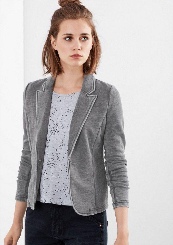 Q/S designed by Sweat-Blazer in Garment Dye in dark grey