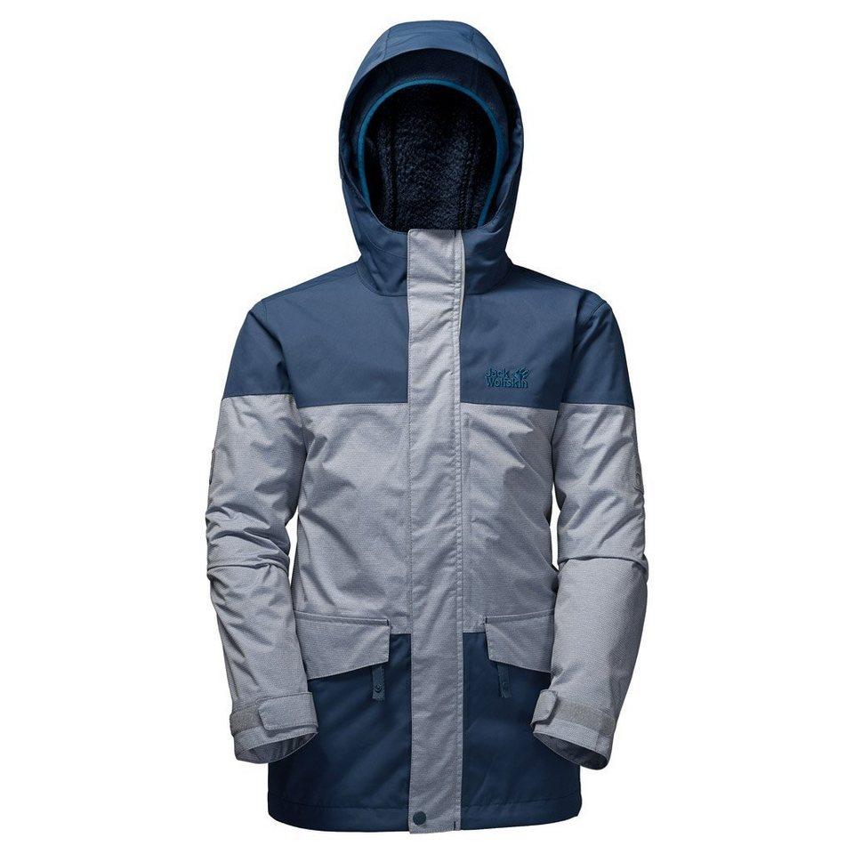 Jack Wolfskin Outdoorjacke »SNOWY TRAIL BOYS« 2 teilig in dark sky