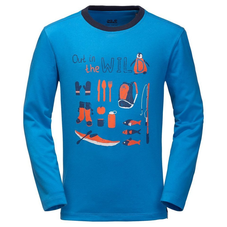 Jack Wolfskin Shirt »OUT IN THE WILD LONGSLEEVE« in brilliant blue