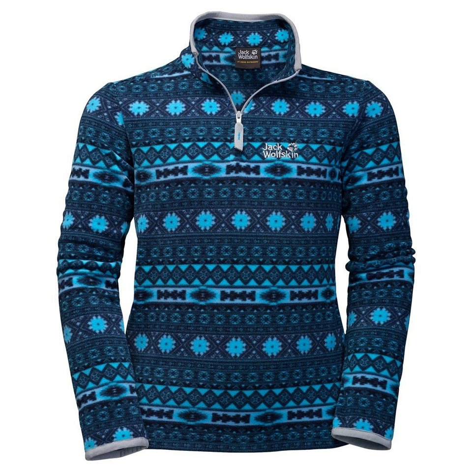 Jack Wolfskin Fleecepullover »ICE CRYSTAL PULLOVER KIDS« in light sky allover