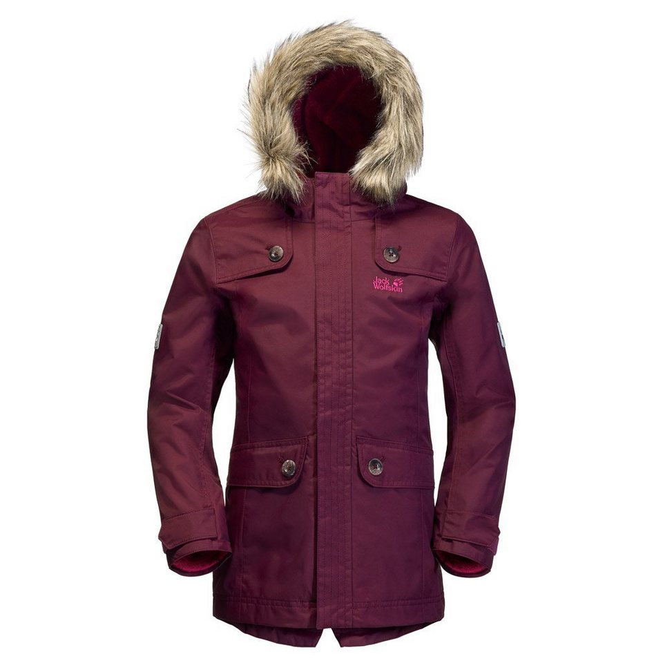 Jack Wolfskin Outdoorparka »RHODE ISLAND PARKA GIRLS« 2 teilig in dark berry