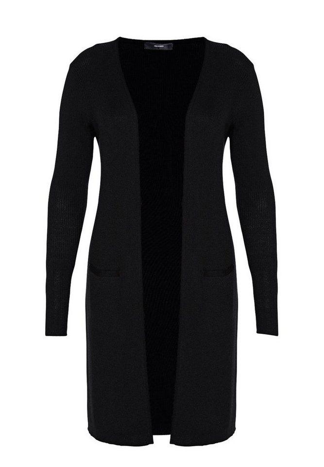 HALLHUBER Long Cardigan mit Seitenschlitzen in schwarz